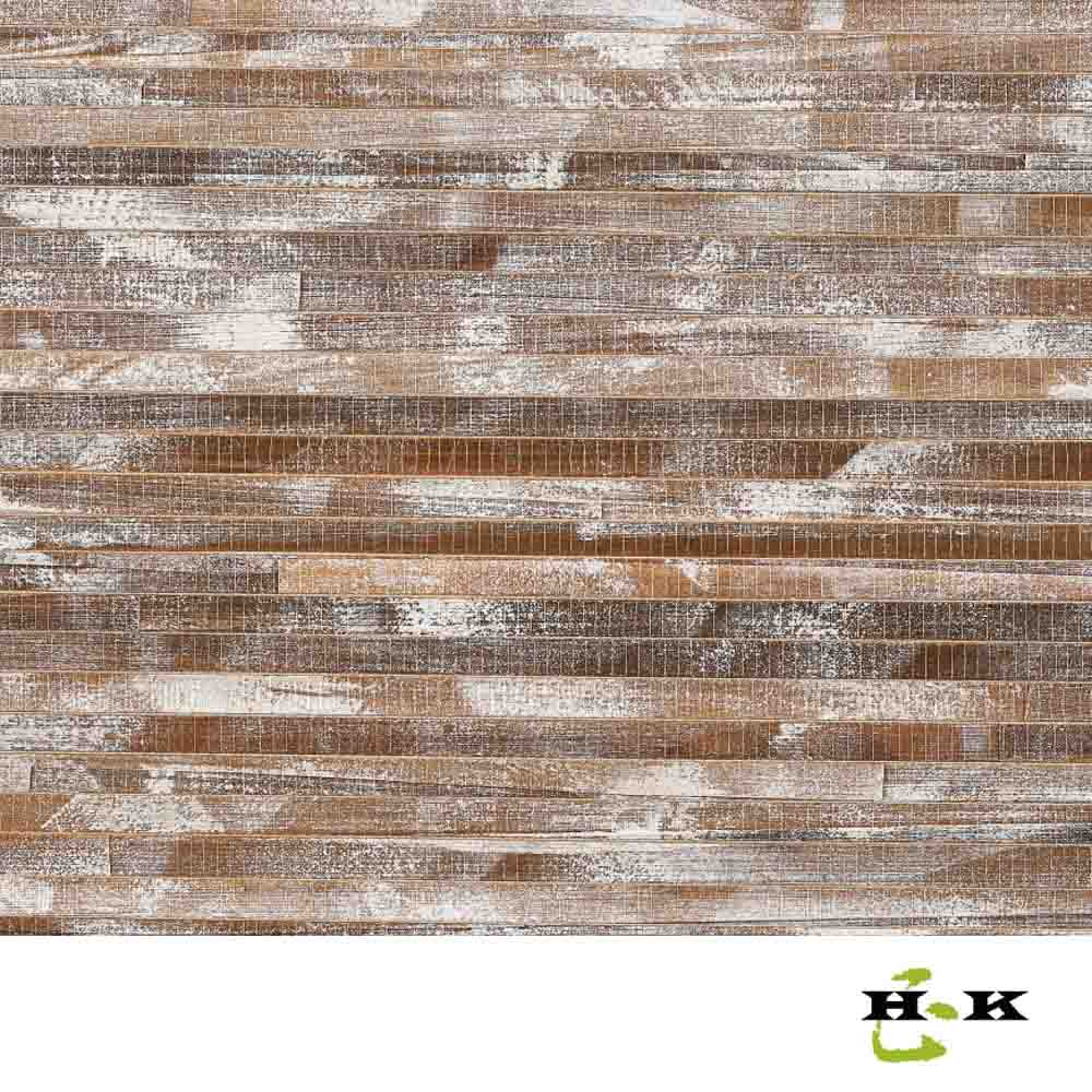 Natural fiber decorative wall paper