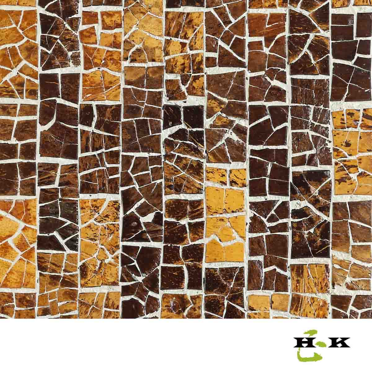 Architectural decorative coconut shell tiles
