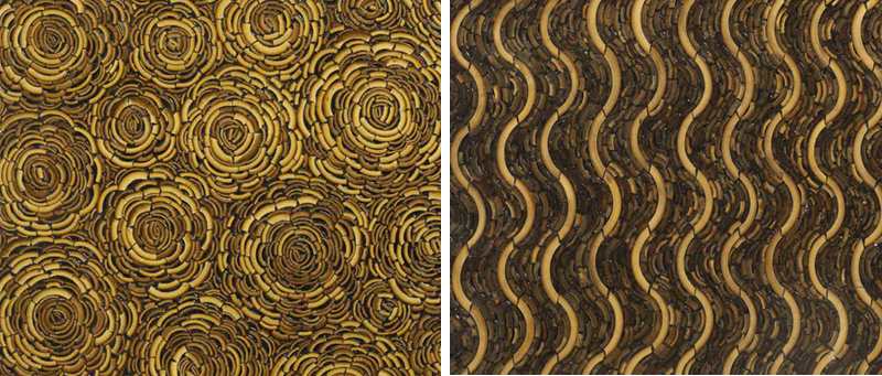 Bamboo wall panels for housing decoration